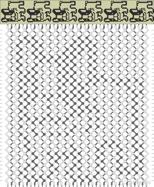 Схема фенечки 8555