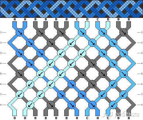 Схема фенечки 8589