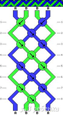 Схема фенечки 8462