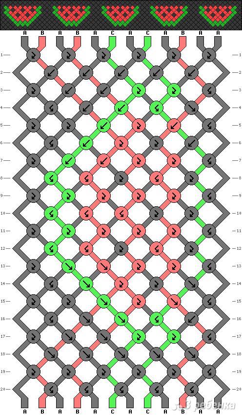 Схема фенечки 9252