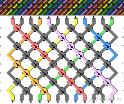 Схема фенечки 9178