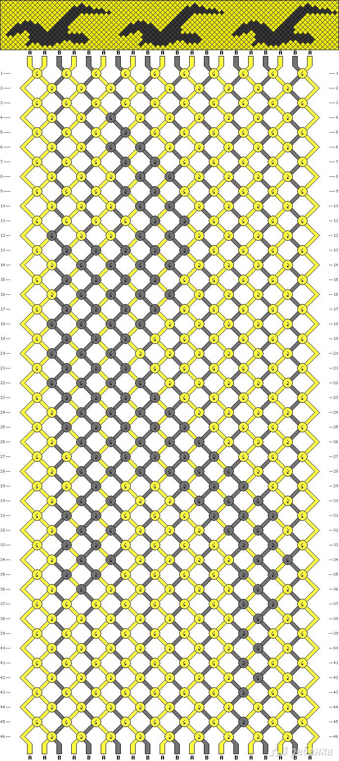 Схема фенечки с 30 seconds to mars