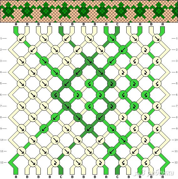 Схема фенечки 9369