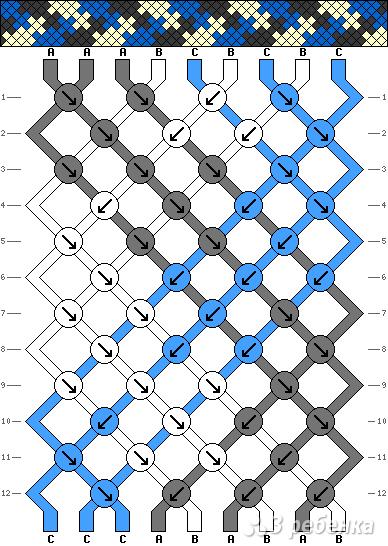 Схема фенечки 8232