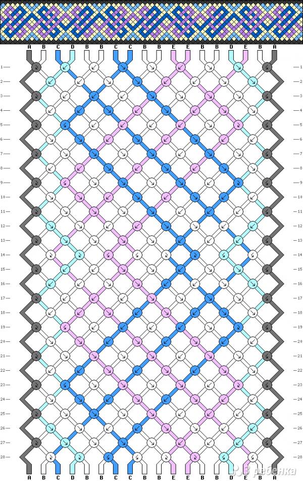 Схема фенечки 9000