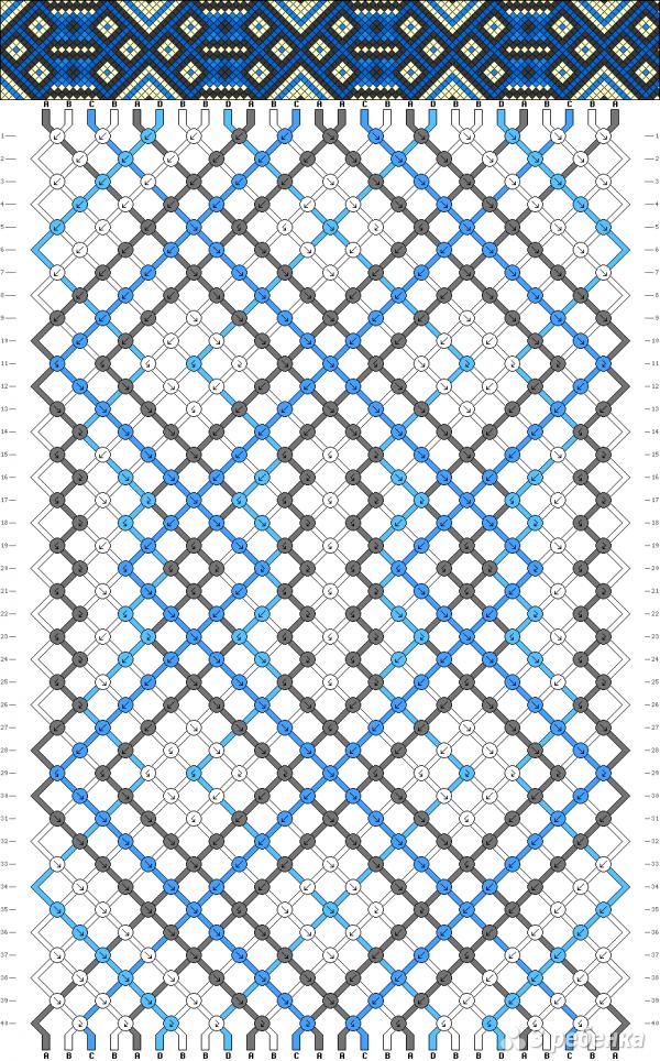 Схема фенечки 8488
