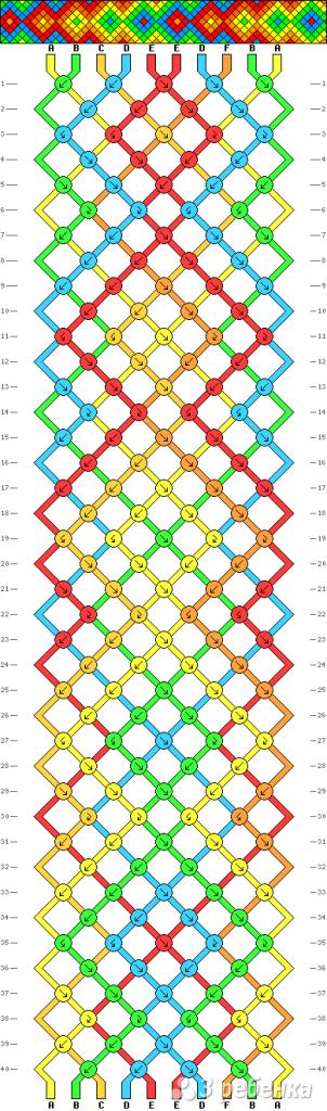 Схема фенечки 9472
