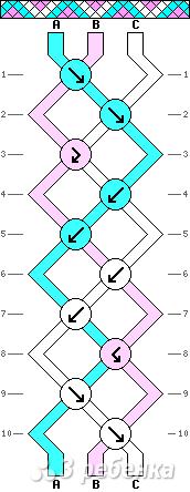 Схема фенечки 9306