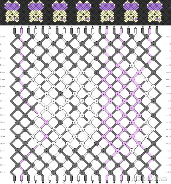 Схема фенечки 9136