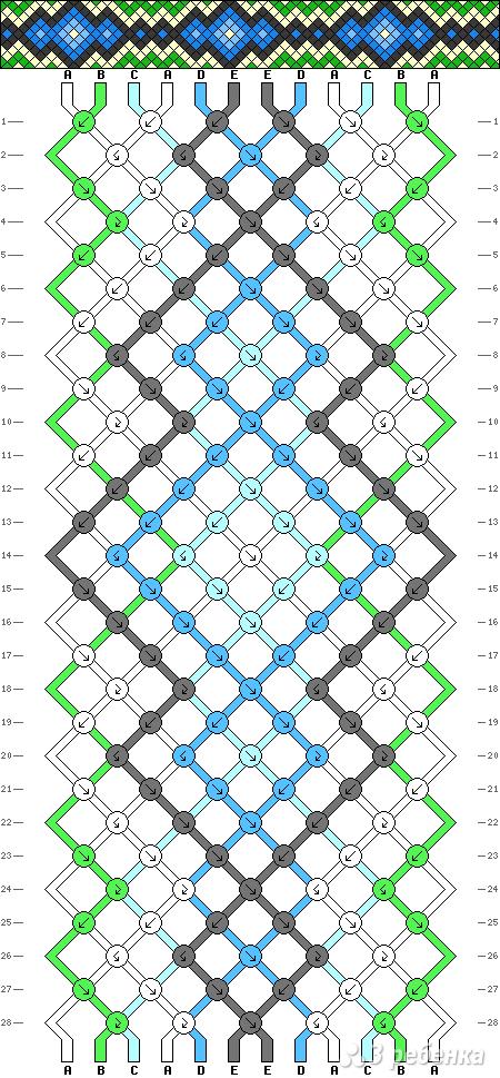 Схема фенечки 8161