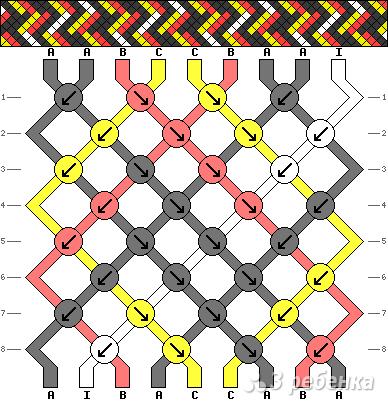 Схема фенечки 8085