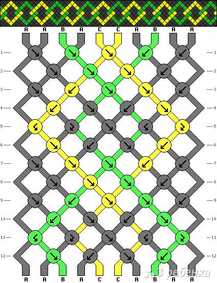 Схема фенечки 9389