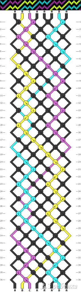 Схема фенечки 8269