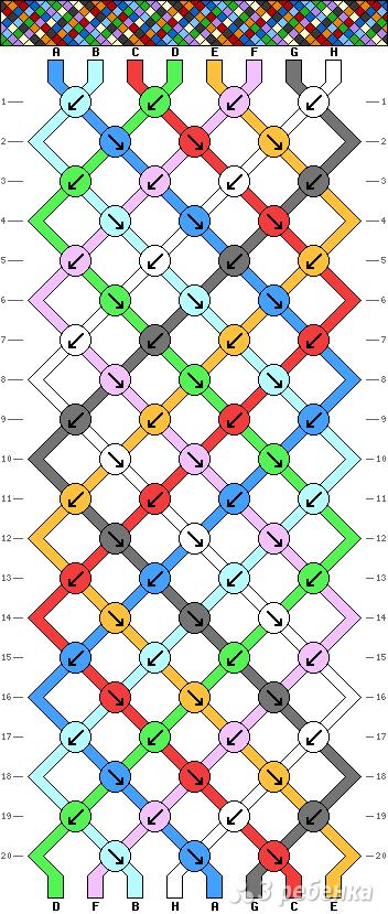 Схема фенечки 9270