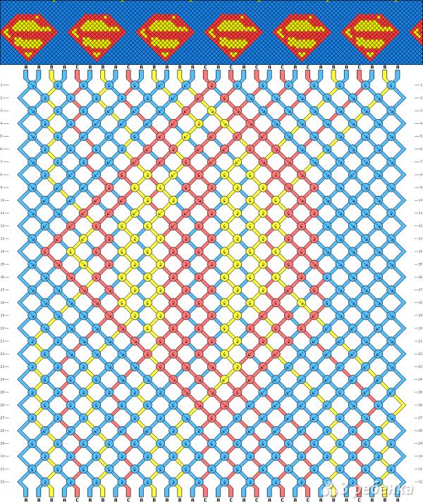 Схема фенечки 8616
