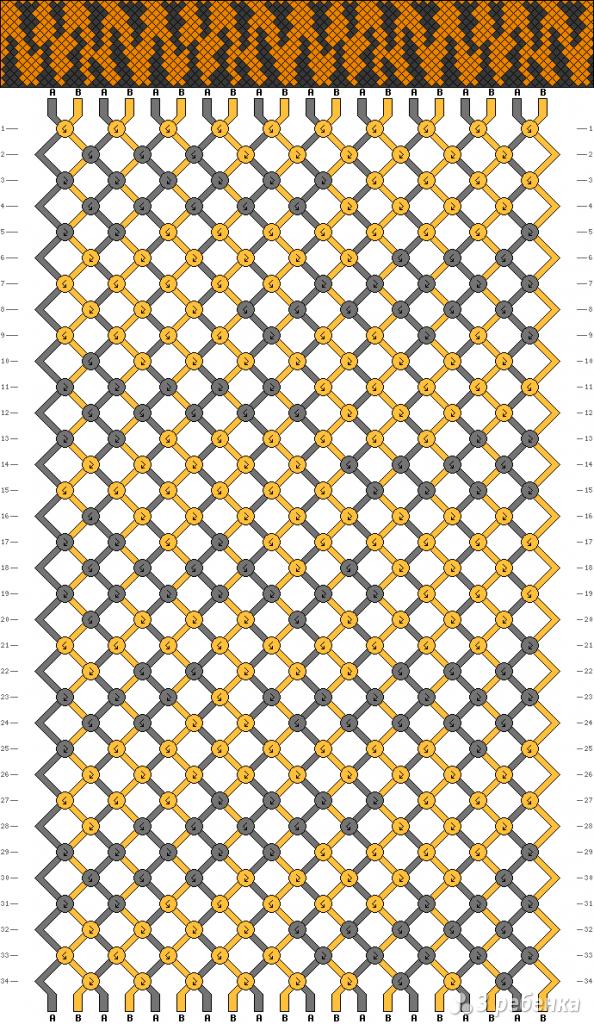 Схема фенечки 8867