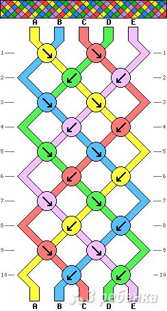 Схема фенечки 8728