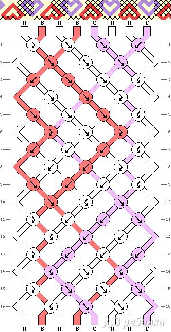 Схема фенечки 8400