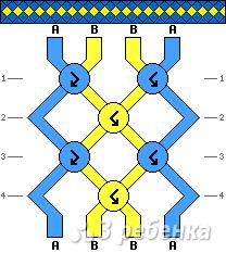 Схема фенечки 9302
