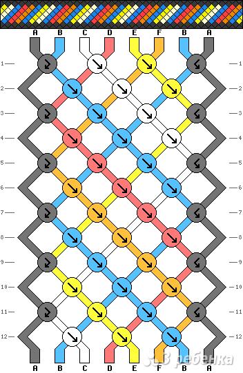 Схема фенечки 8380