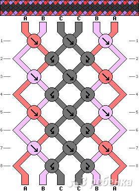 Схема фенечки 8448