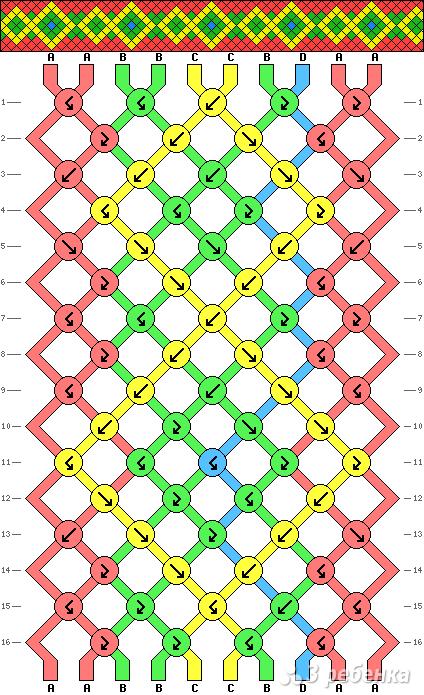 Схема фенечки 9214