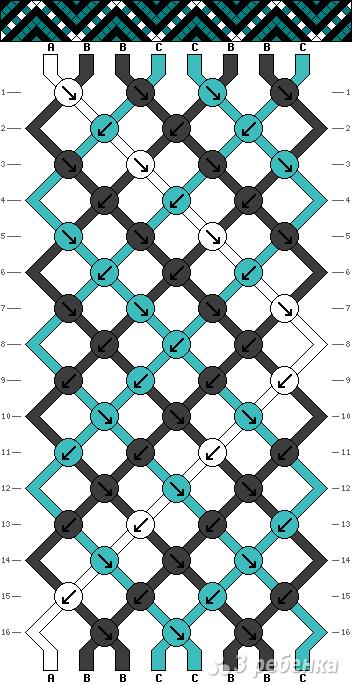 Схема фенечки 9592