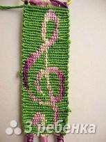 Схема фенечки прямым плетением 10328