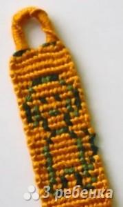 Схема фенечки прямым плетением 10763