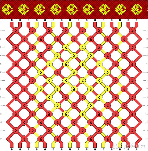 Схема фенечки 9857