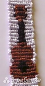 Схема фенечки прямым плетением 11316
