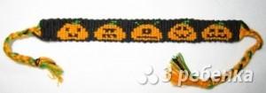 Схема фенечки прямым плетением 10780