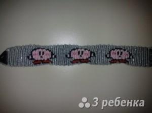 Схема фенечки прямым плетением 10172
