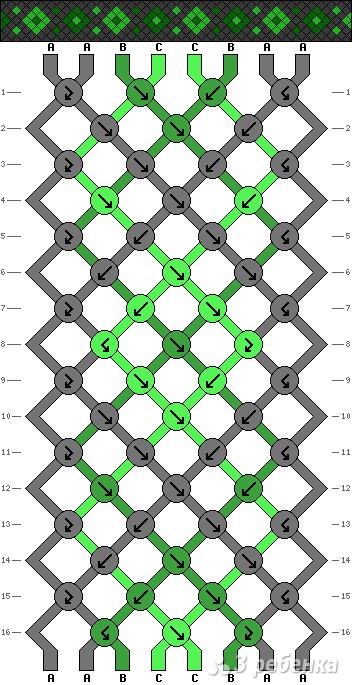 Схема фенечки 10018