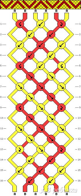 Схема фенечки 9861