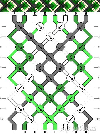 Как создать схемы фенечек - NicosPizza.Ru