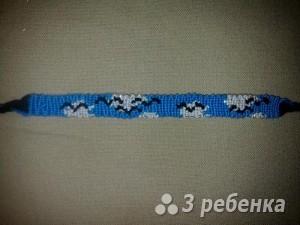 Схема фенечки прямым плетением 11356