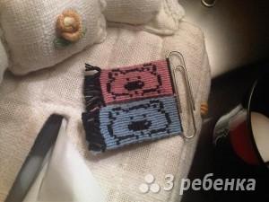 Схема фенечки прямым плетением 10151