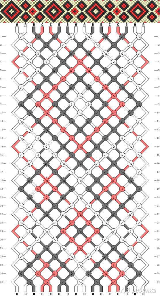 Схема фенечки 11060