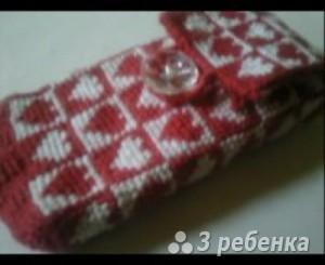 Схема фенечки прямым плетением 11323