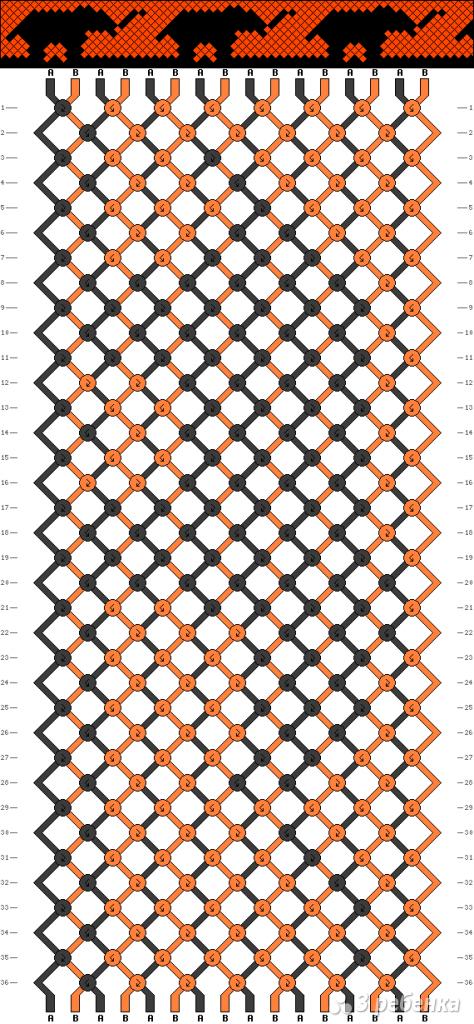 Схема фенечки 9823