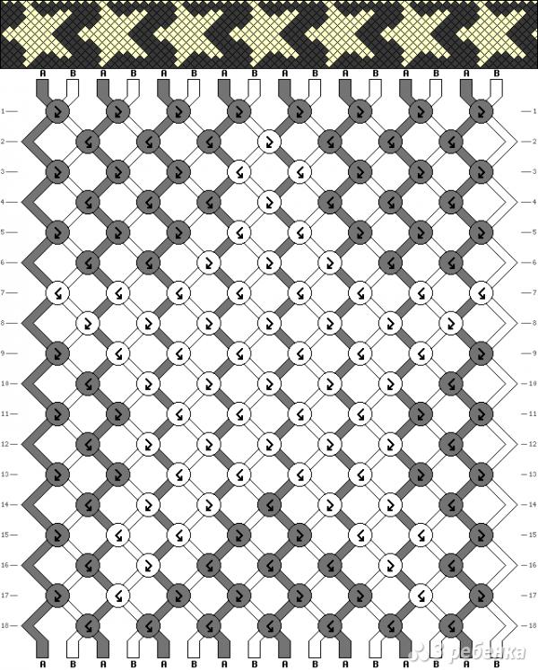 Схема фенечки 11009