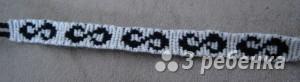 Схема фенечки прямым плетением 11431