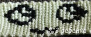 Схема фенечки прямым плетением 10285