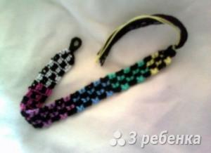 Схема фенечки прямым плетением 10160