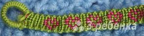 Схема фенечки прямым плетением 10061