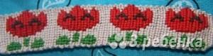 Схема фенечки прямым плетением 11302