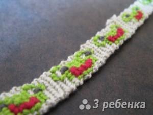 Схема фенечки прямым плетением 11424