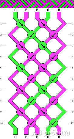 Схема фенечки 9581