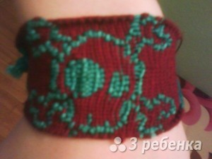 Схема фенечки прямым плетением 10253